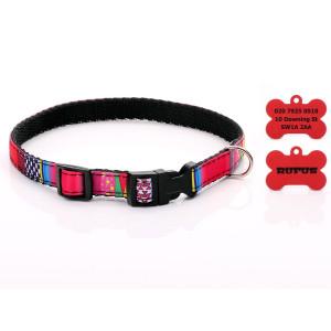 Red & Pink Mosaic Dog...