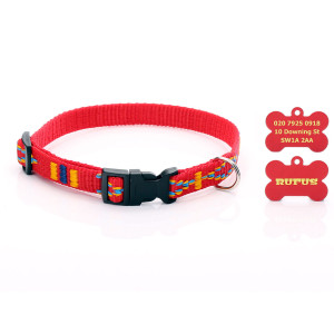 Red Aztec Pattern Dog...