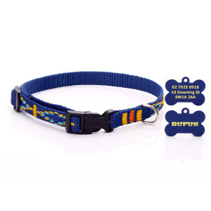 Navy Blue Aztec Pattern Dog...