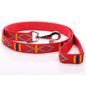 Red Aztec Pattern Dog Lead