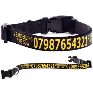 Adjustable Black Dog Collar...