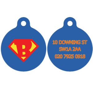 Super Hero Dog Tag with...