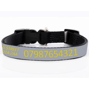 Adjustable Grey Dog Collar...