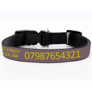 Adjustable Brown Dog Collar...