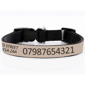 Adjustable Beige Dog Collar...