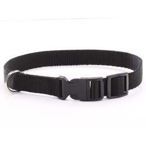 Adjustable Black Dog Collar