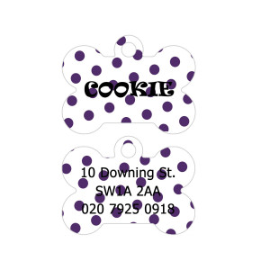Purple Polka Dots Dog Tag