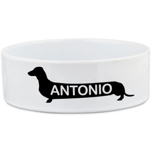 Dachshund Long Haired Food Bowl Stand Pet Bowls Small