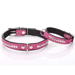 Pink Leather Dog Collar...