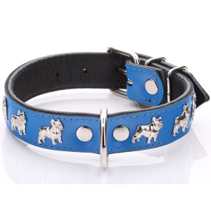 Blue French Bulldog Collar