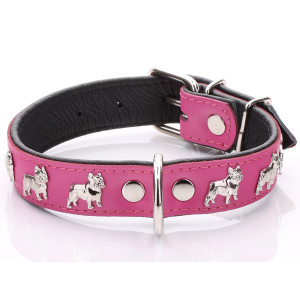 Pink French Bulldog Collar