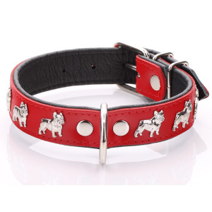 Red French Bulldog Collar