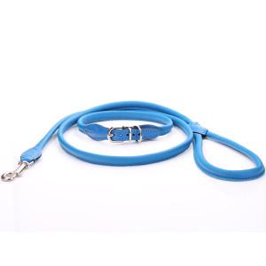 Blauw Rolde Lederen...