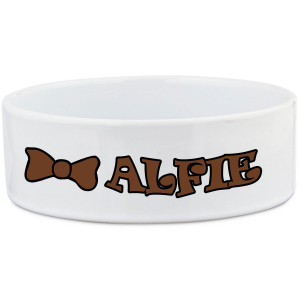 Dog Bowl with Bow Tie