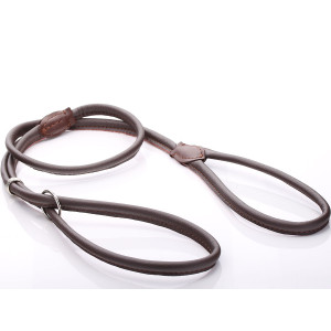 Brown Round Leather Halti...