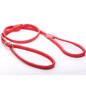 Red Round Leather Halti Dog...