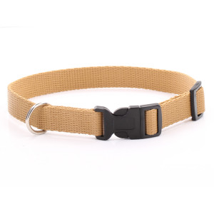 Adjustable Beige Dog Collar