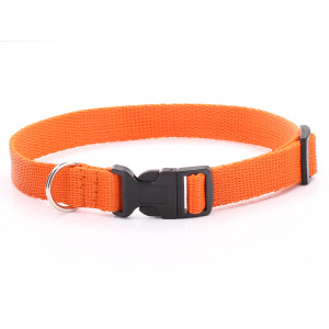 Adjustable Orange Dog Collar