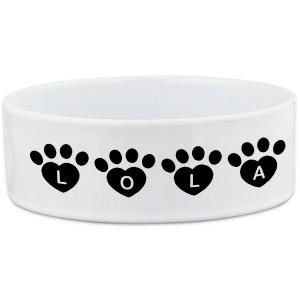 Personalised Paw Font Dog Bowl