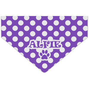 Personalised Purple Polka...