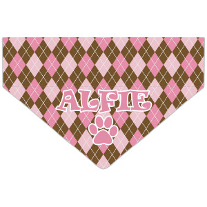 Personalised Pink Argyle...