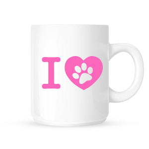 Paw in Heart Coffee Mug