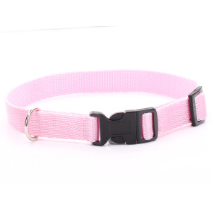 Adjustable Pink Dog Collar