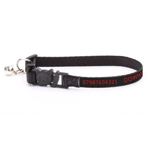 Adjustable Black Cat Collar...