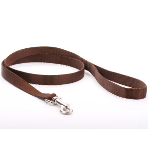 Brown Nylon Dog Lead