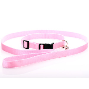 Pink Nylon Dog Collar &...