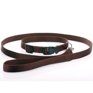 Brown Nylon Dog Collar &...