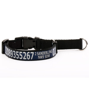 Navy Martingale Collar with...