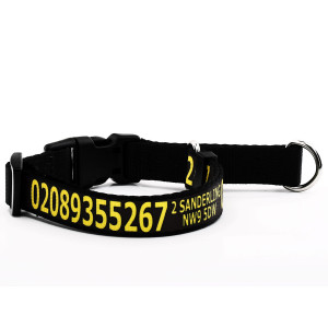 Black Martingale Collar...