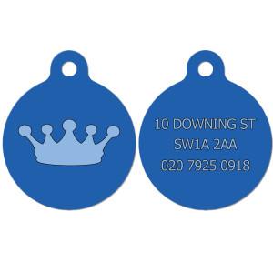 Blue Crown Dog Tag