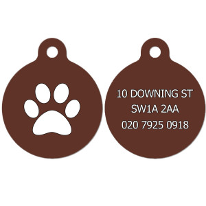 Dog Tag with Paw