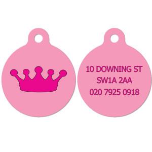 Pink Crown Dog Tag
