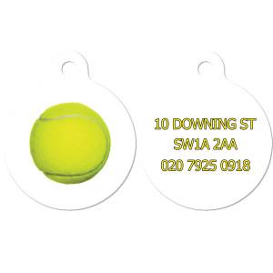 Dog Tag with Tennis Ball
