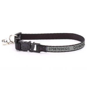 Adjustable Grey Cat Collar...
