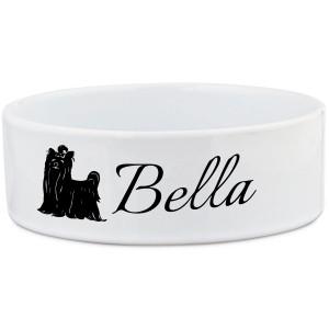 Personalised Yorkie Dog Bowl
