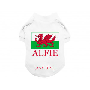 Personalised Welsh Flag Dog...