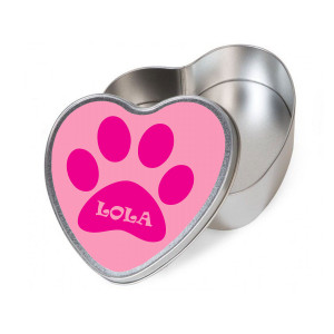 Personalised Pink Heart Dog...