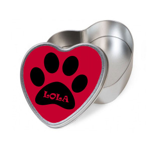 Personalised Red Heart Dog...