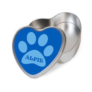 Personalised Blue Heart Dog...