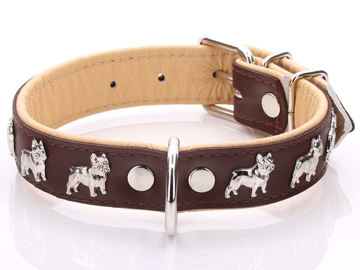 Brown Amp Beige French Bulldog Collar