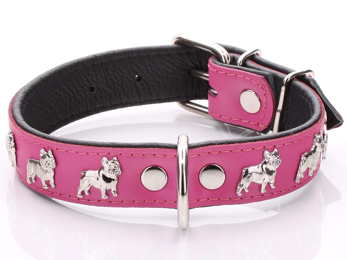 Pink French Bulldog Collar