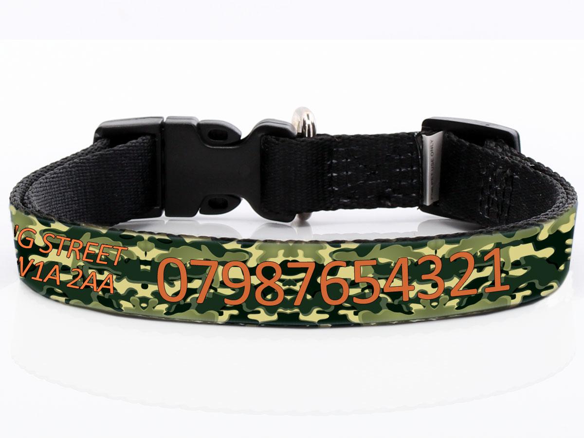 Camo Dog Collar Tags